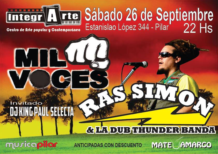 Mil Voces + Ras Simon en IntegrArte